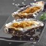 Huitres à la crème d'asperge et safran gratinées au roquefort