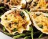 Huîtres chaudes gratinées aux épinards