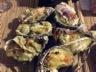 Huîtres chaudes sur fondue de poireaux au camembert