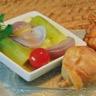 Jambonnette de poulet confite braisé de blanc de poireaux à la coriandre
