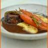 Joue de boeuf braisé au vin et carottes