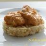 Joues de lotte en sauce rouge et risotto au citron