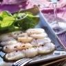 La recette Cauvin Carpaccio de Saint-Jacques à l'Huile d'Olive Bio saveur Truffe