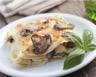 Lasagne aux champignons tofu sauce béchamel et soja