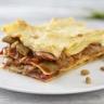 Lasagne de haricots plats et jambon de Parme