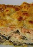 Lasagnes aux 2 saumons courgettes et champignons
