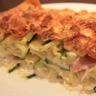 Lasagnes aux courgettes et à la crème de camembert