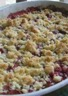 Le crumble rhubarbe-framboise