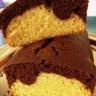 Le gâteau marbré chocolat vanille et rhum