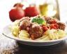 Les spaghettis aux boulettes de viande de La belle et le clochard