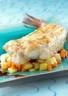 Lotte rôtie sur l'os au beurre demi-sel et son jus aux saveurs d'Asie