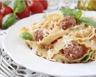 Mafaldine aux boulettes de bœuf sauce tomate