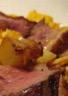 Magret de canard à l'orange et pommes de terre rissolées