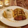 Magret de canard au thé Earl Grey et carpaccio d'ananas