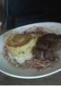 Magret de canard aux airelles écrasée de pommes de terre ail-persil