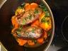 Magret de canard aux patates douces sauce au miel