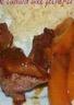 Magret de canard aux pêches et au miel