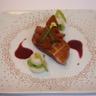 Magret de canard roti petits navets et fèves glacés à la cannelle réduction de vin mielé à l'or...