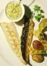 Maquereaux et oignons nouveaux grillés sce tartare grenailles rôties