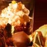 Marrons glacés en robe de chocolat et granité café