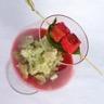 Martini fraises-estragon ou Martini fraises-basilic