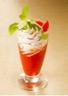 Melba de tomate à la chantilly de Chèvre-boîte nappée de tapenade