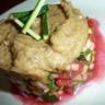 Méli-Mélo Tomates Courgettes en vinaigrette de betterave et basilic purée d'aubergines aillée