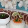Mi-cuit de filet de thon rouge en habit de coco