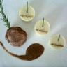Mignon de porc piqué au romarin purée à l'ail sauce moutarde à l'ancienne