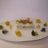 Mille-feuille de raie à l'anchoïade farandole de choux aux éclats de noisettes beurre blanc pas...