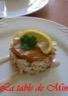 Mille-feuilles au saumon fumé et crabe