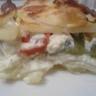Mille-feuilles de pommes de pommes de terre aux 2 poivrons