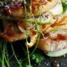 Mille feuilles de veau de foie gras et de poires