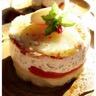 Millefeuille de pommes de terre tomates confites crème d'ail et crème de sardine