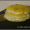 Millefeuille de risotto vanillé et mangue et sauce caramel beurre - salé