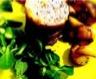 Millefeuilles pommes confites magret de canard fumé et foie gras
