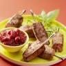 Mini-brochettes de foie de veau et chutney de framboise