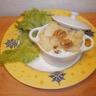 Mini-cocotte de purée de pomme de terre bleu aux noix et poires