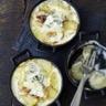 Mini cocottes de rattes gratinées au jambon et au Bresse Bleu