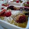 Mini gratins de fruits rouges à la pistache