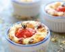 Mini quiche sans pâte au chèvre et tomates cerises