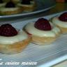 Mini tartelettes chocolat blanc et framboises
