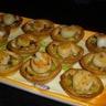 Mini-tartelettes fondue de poireaux / noix de Saint-Jacques (sans corail)