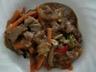 Mon boeuf chinois aux oignons et légumes sautés