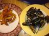 Moules marinière à la crème et au curry