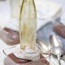 Mousse au chocolat chantilly au roquefort et cristalline d'endive