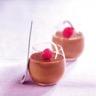 Mousse au chocolat noir et framboise