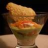 Mousse d'asperges et son saumon