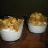 Mousse de boudin blanc et pommes en verrine