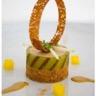 Mousse de foie gras en gelée de pommes vertes et pain de cannelle